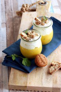 Recette Bio : Verrine aux deux citrons et macaron, craquante aux amandes