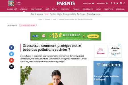 Retombé presse - Grossesse : comment protéger notre bébé des pollutions cachées ?