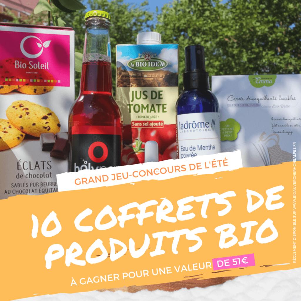 Jeu-concours de l'été : 10 lots de produits bio à gagner !