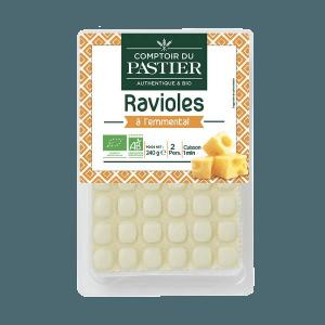Recette Bio : Salade de pousses d'épinard aux ravioles emmental