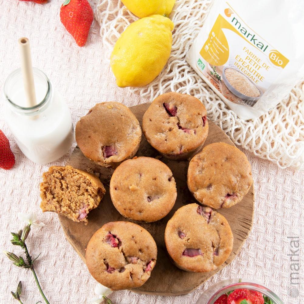 Muffins-fraises+pack-farine